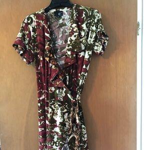 Wrap tunic dress
